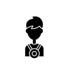 champion black icon sign on isolated vector image
