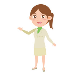 character business women style vector image