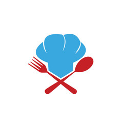 Chef cook food logo vector