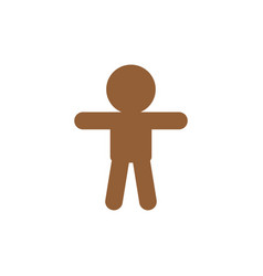 child icon in trendy flat style isolated on grey vector image