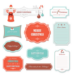 christmas and happy new year frames and banners vector image
