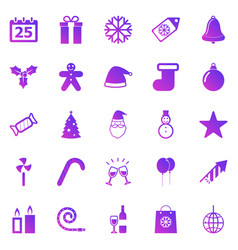 christmas gradient icons on white background vector image