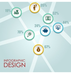 circle infographic Template for diagram vector image