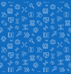 Cloning line seamless pattern with blue vector