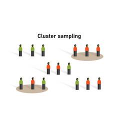 Cluster sampling method in statistics research on vector