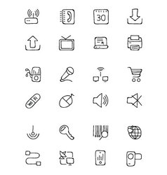 Communication Hand Drawn Icons 2 vector image