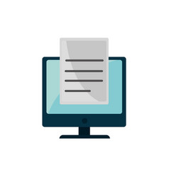 Computer document property intellectual copyright vector