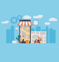 Concept online delivery service tracking online vector
