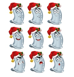 condoms with Santa hat vector image