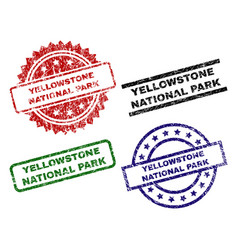 Damaged textured yellowstone national park seal vector