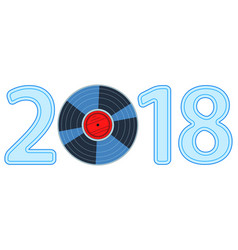 disk 2018 lettering vector image
