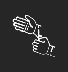 disposable sterile gloves chalk white icon on vector image