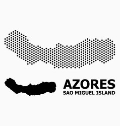 Dotted pattern map sao miguel island vector