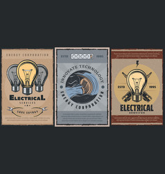 electrician services power generation technology vector image