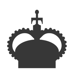 English crown isolated icon vector image