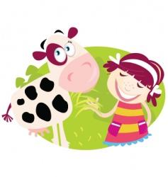 Farm girl vector