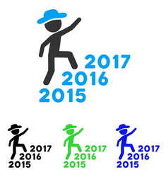gentleman steps years flat icon vector image