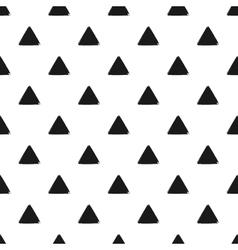 Geometric seamless pattern of grunge black vector
