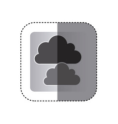 Gray cound data network icon vector