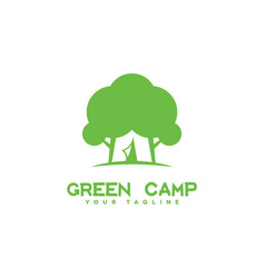 Green camp logo vector
