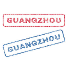 Guangzhou textile stamps vector