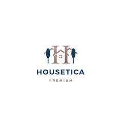 h letter house logo icon vector image