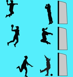 handball women vector image