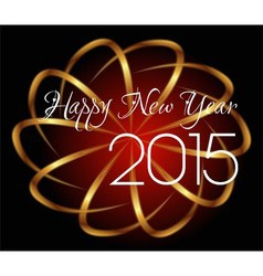 Happy New Year 2015 red background vector