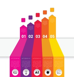 infographic set with icon vector image