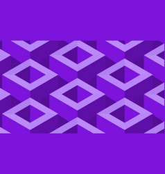 Isometic pattern in purple vector