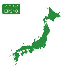 Japan map icon business cartography concept japan vector