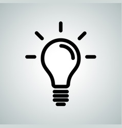 lamp light bulb idea icon vector image