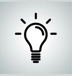 Lamp light bulb idea icon vector