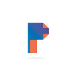 Letter p logo design template elements paper vector