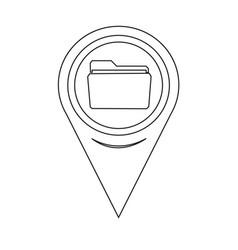 map pointer folder icon vector image