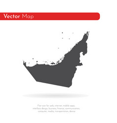 Map united arab emirates isolated vector