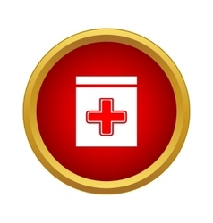 Medicine bottle icon simple style vector image vector image