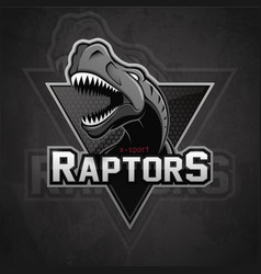 modern professional dinosaur logo for a sport team vector image
