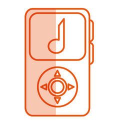 music player mp3 isolated icon vector image
