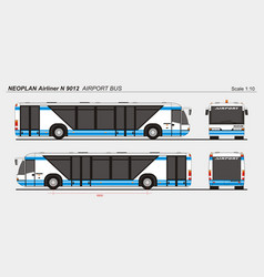 Neoplan airliner n 9012 airport passenger bus vector