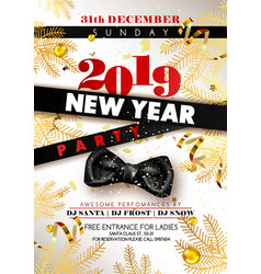 New year party third of december sunday invitation vector
