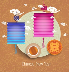 Oriental Chinese New Year pattern background vector
