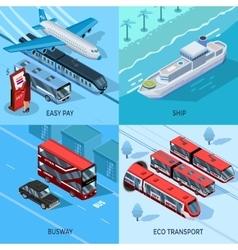 Passenger Transport Isometric 2x2 Design Concept vector