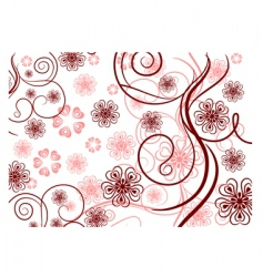 pattern with lines and flowers vector image vector image