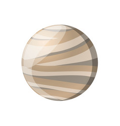 Pluto planet isolated vector