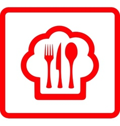 Red icon for food symbol vector