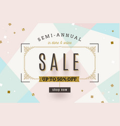 retro style sale banner vector image
