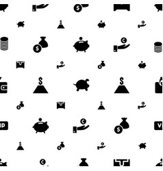 Rich icons pattern seamless white background vector