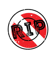 Rip rubber stamp vector