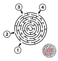 round maze labyrinth isolated vector image